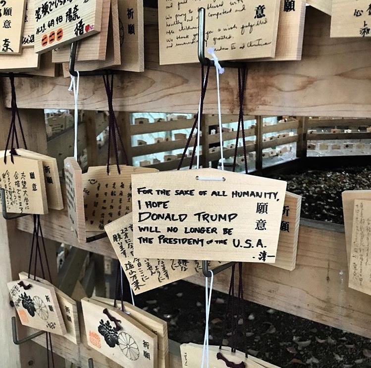 Prayers at Meji-Jingu Temple