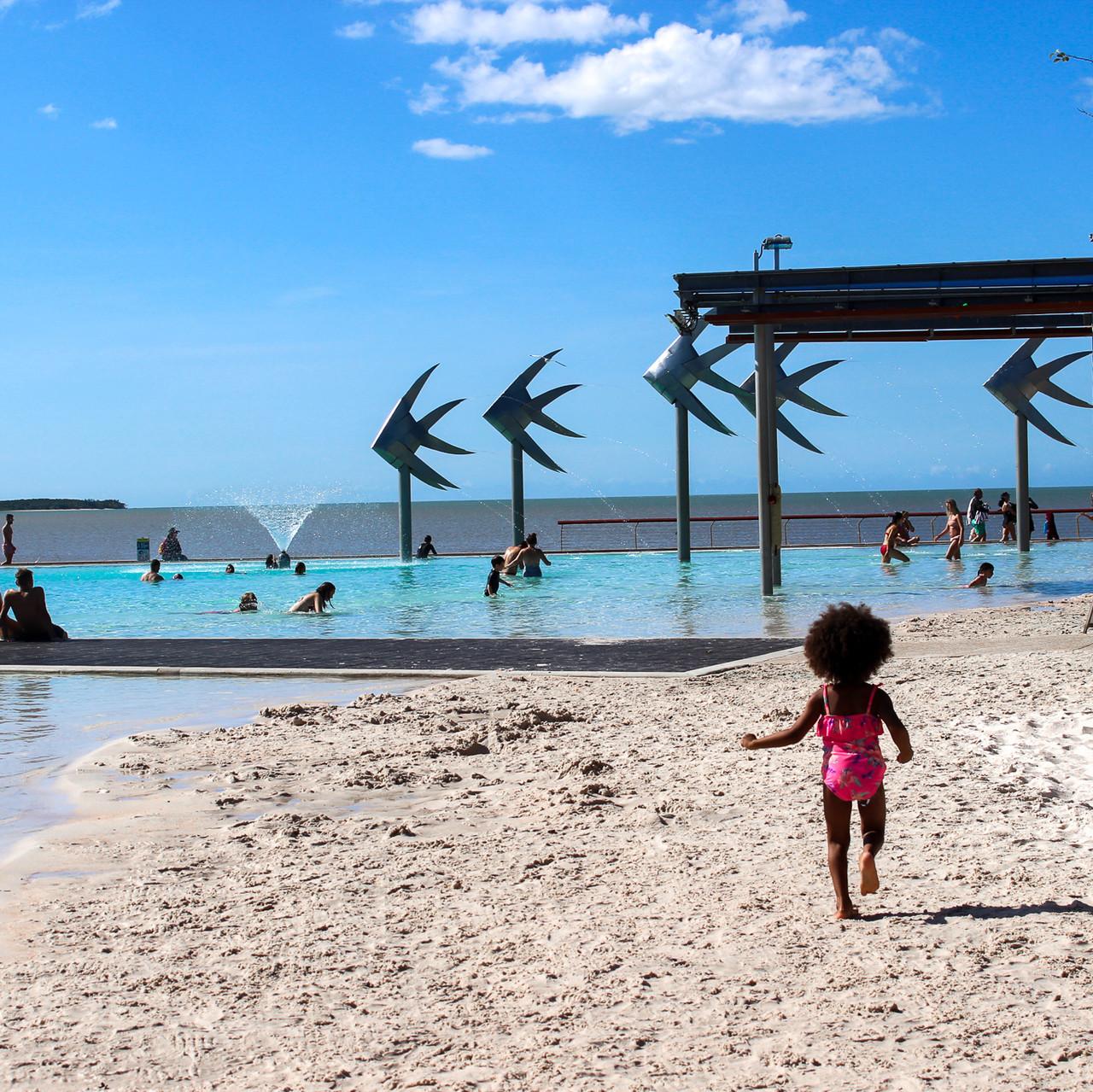 Swimming Esplanade Lagoon