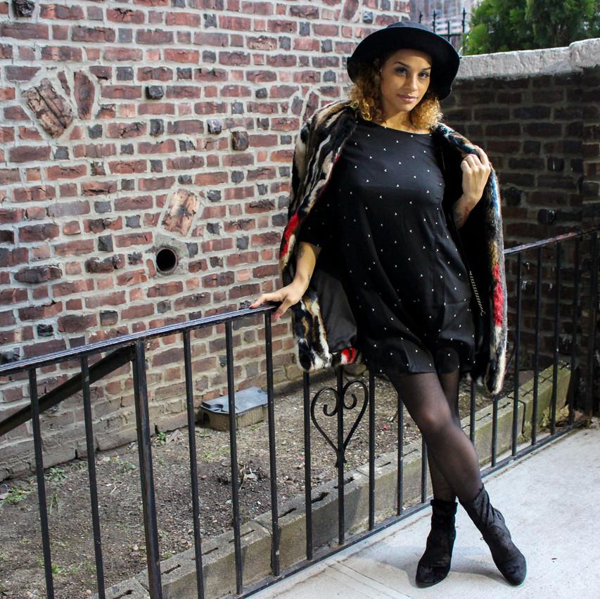 Layla - Black Birds 3/4 sleeve dress