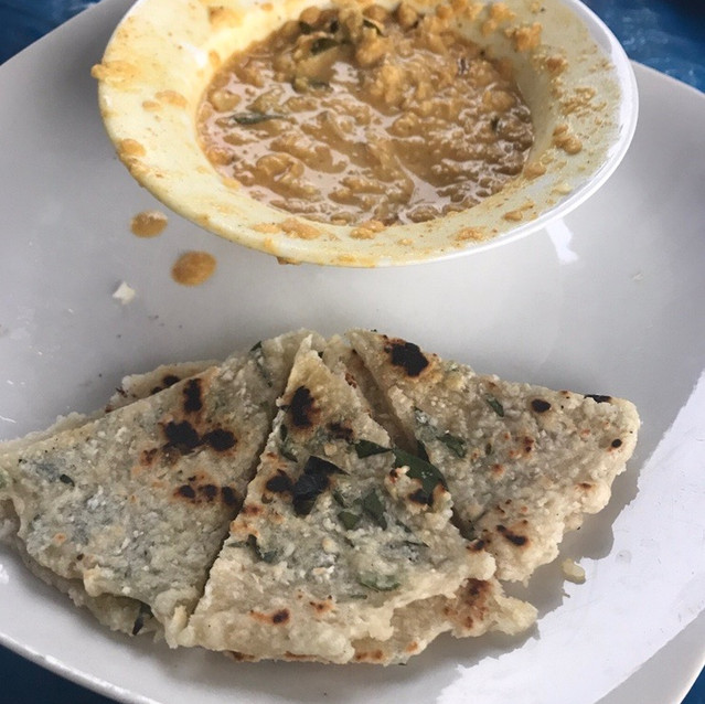 Roti with curry