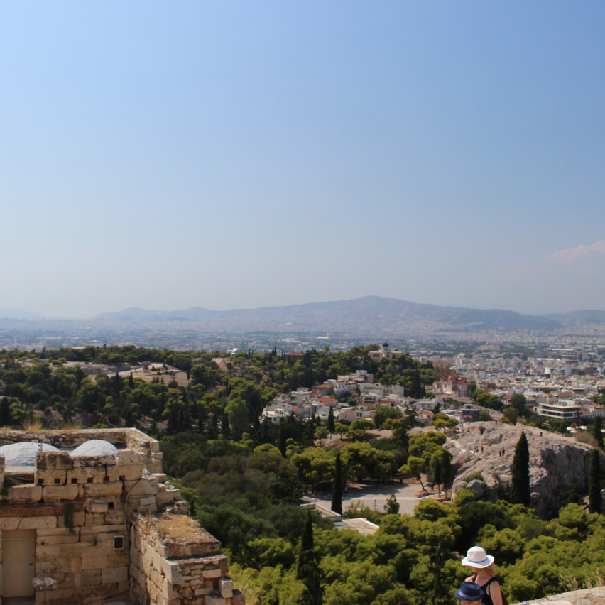 Acropolis views from above