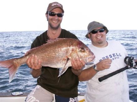 Anthonys big Snapp held by Craig....JPG