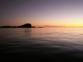 Early dawn accross from Burgess Island (