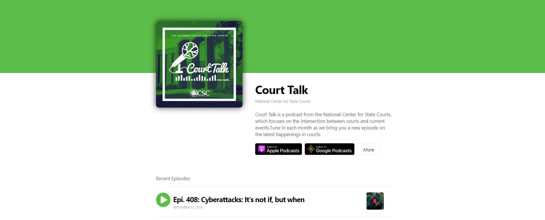 Court Talk podcast
