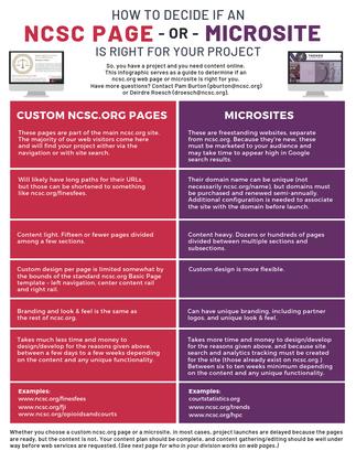 Web page vs. microsite