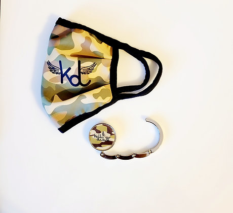 Camo Facemask & Purse Hook Combo