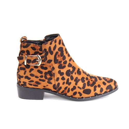 Botín Canela Leopardo