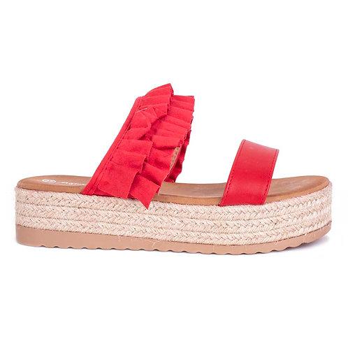 Sandalia Cunco Roja