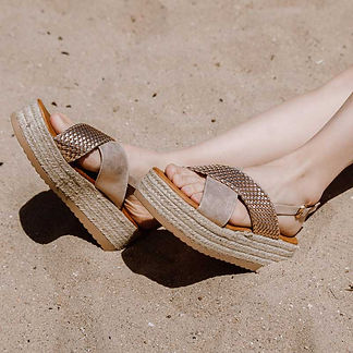 sandalias plataforma agua de coco