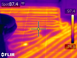 Infrared Thermal Imaging In floor heating