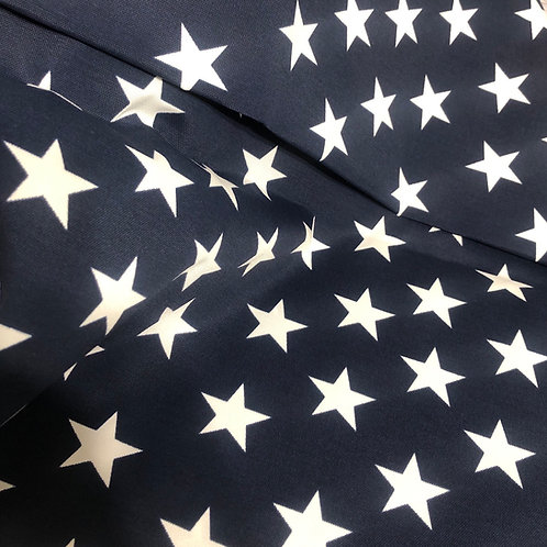Navy Stars Shopping Cart Covers