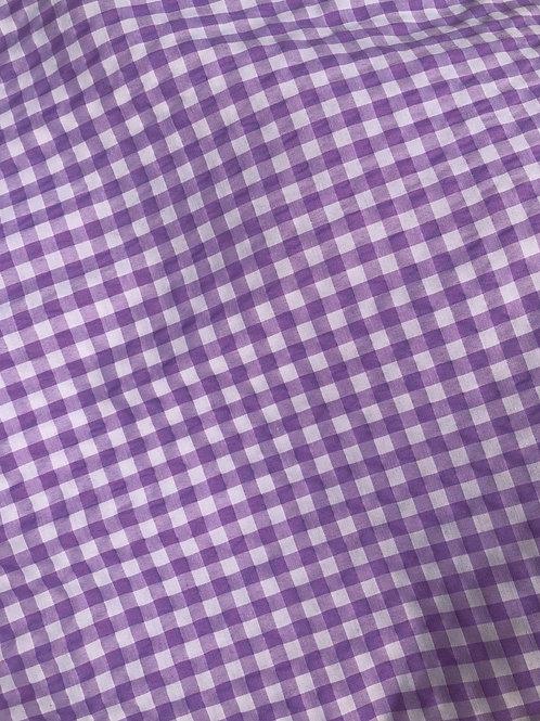 Lilac Check Barre Cover