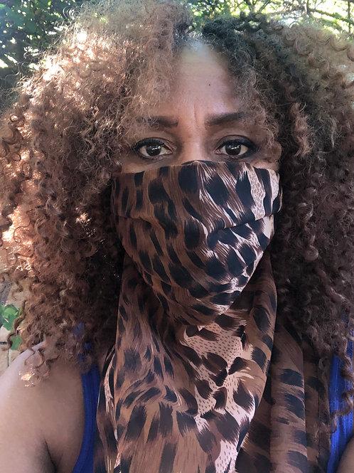 Leopard Print Scarf Mask