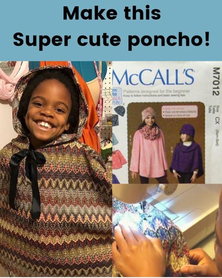 McCalls Kids Poncho