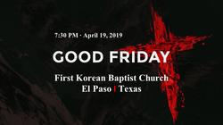 2019 Good Friday Night Service