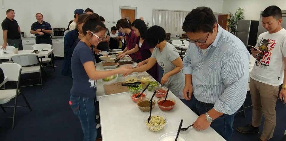Saturday Fellowship Chipotle Catering
