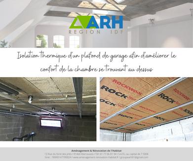 ARH - Avant/Après Isolation plafond de garage
