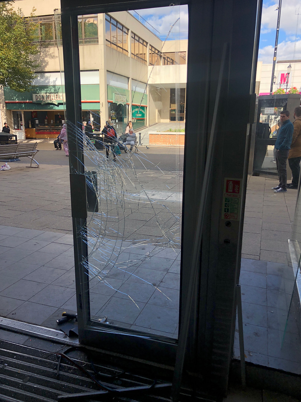 shop door glass replascement