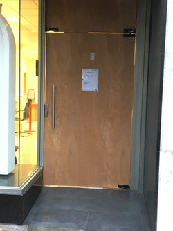temporary glass doors