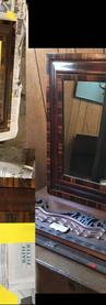 veneer repair, amalgamated shellac, and color blending