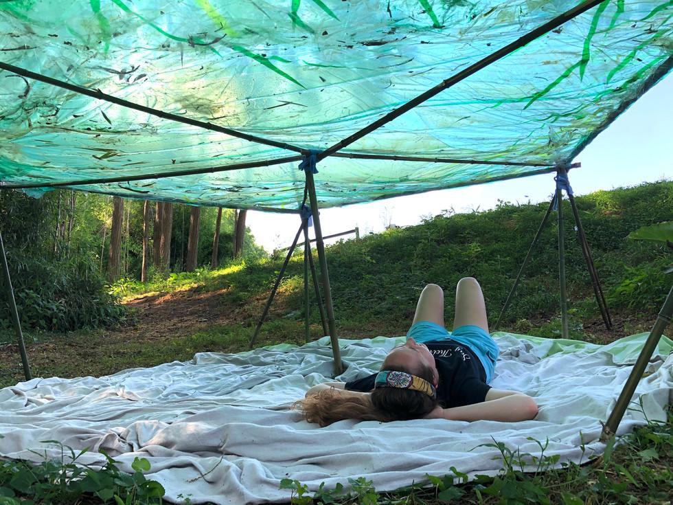 Sara under the wetlands