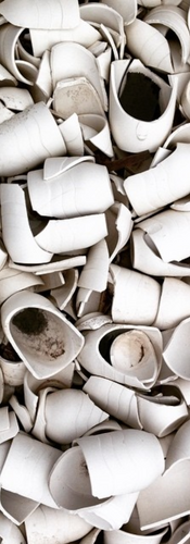 discarded porcelain cups