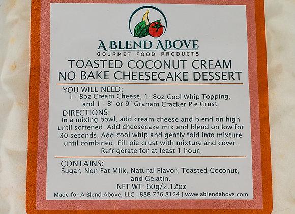 Toasted Coconut Cream No Bake Cheesecake Dessert