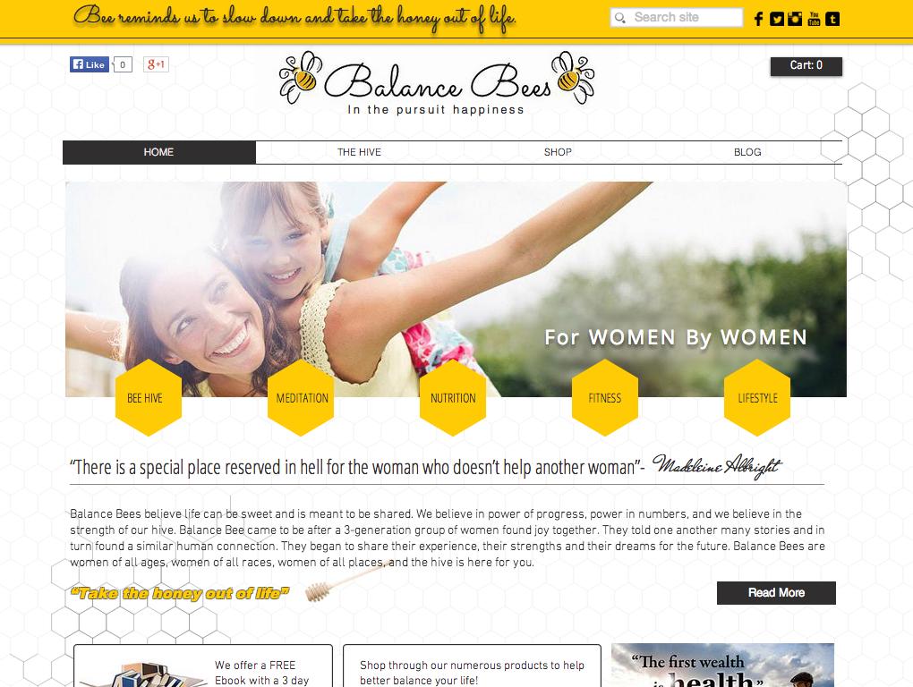 balance bees portfolio wix