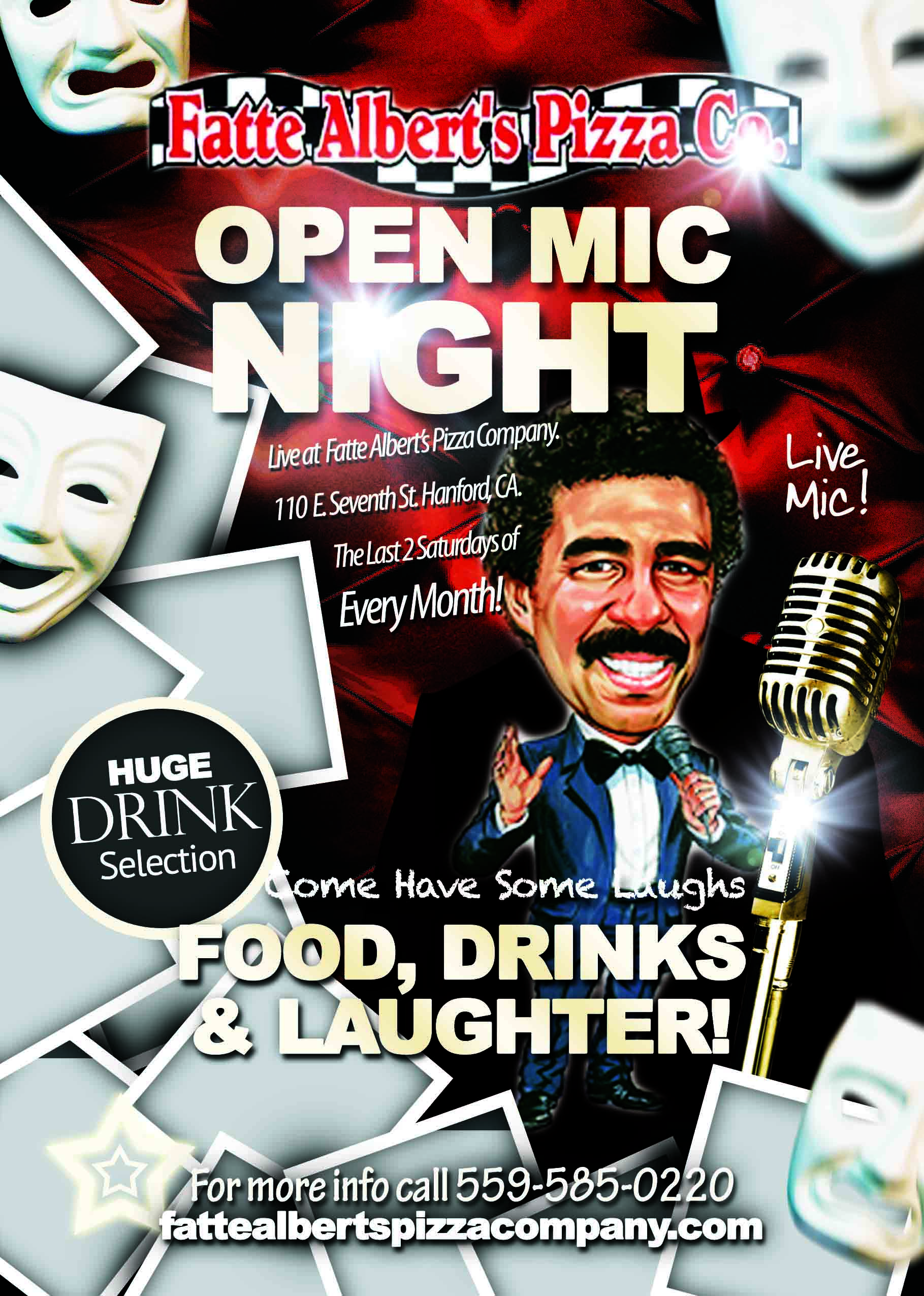 fatte comedy flyer