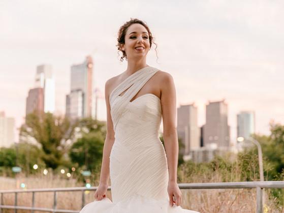 Sara's Ballet-Inspired Wedding gown, Photo Shoot, Rodin Museum, Philadelphia