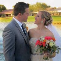 Outdoor Destination wedding happy couple