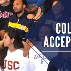 College Acceptances - Crazy Year