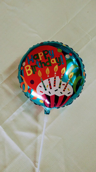 """Balloon 6"""" With Pick  B6"""