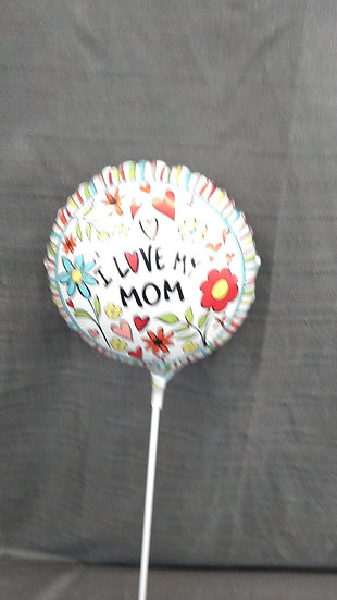 """Mother's Day 6""""Balloon With Pick  B2"""