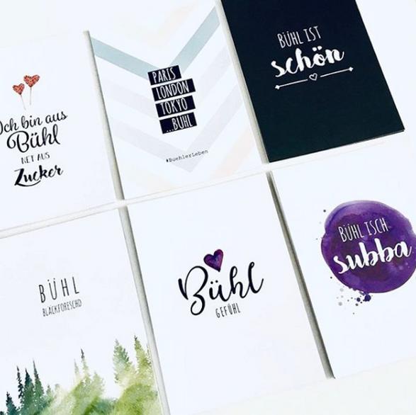 Postkarten Design für #buehlerleben