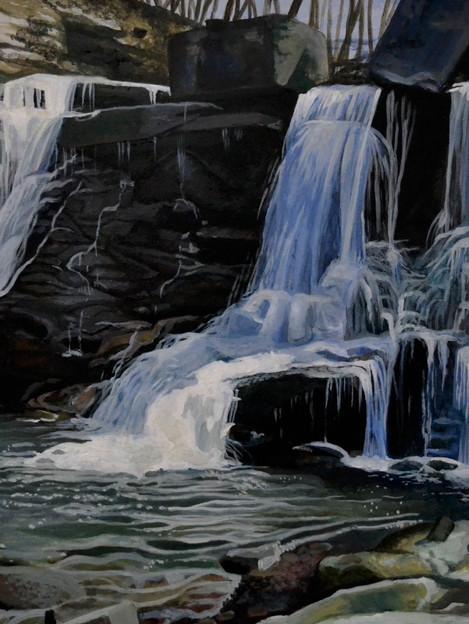 Acrylic Paint - Chedoke Falls - 2018.JPG