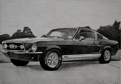 Ford Mustang - Graphite Pencil - 2018.JP