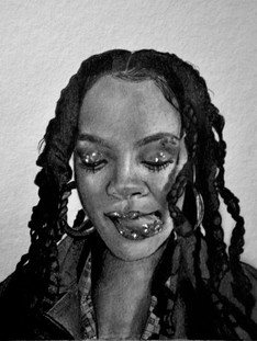 Graphite Pencil - Rihanna 3 - 2018_edite