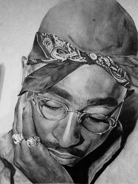 Graphite Pencil - Tupac Shakur - 2017