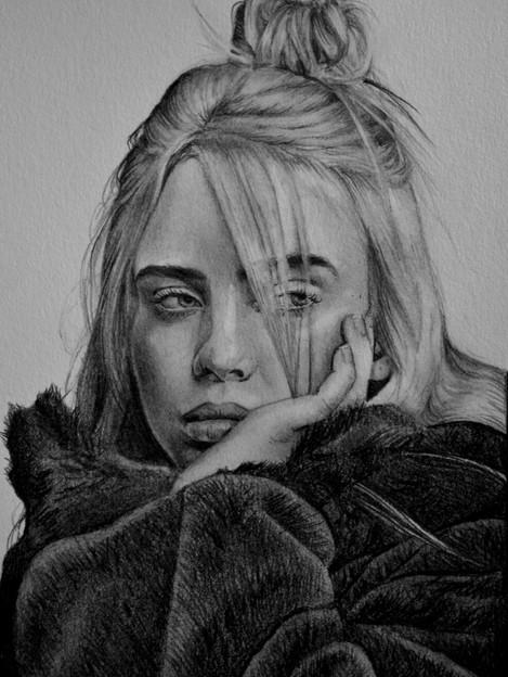 Graphite Pencil - Billie Eilish - 2019.J