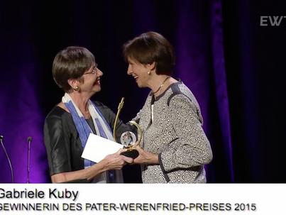 Verleihung des Pater-Werenfried-Preises 2015 an Gabriele Kuby