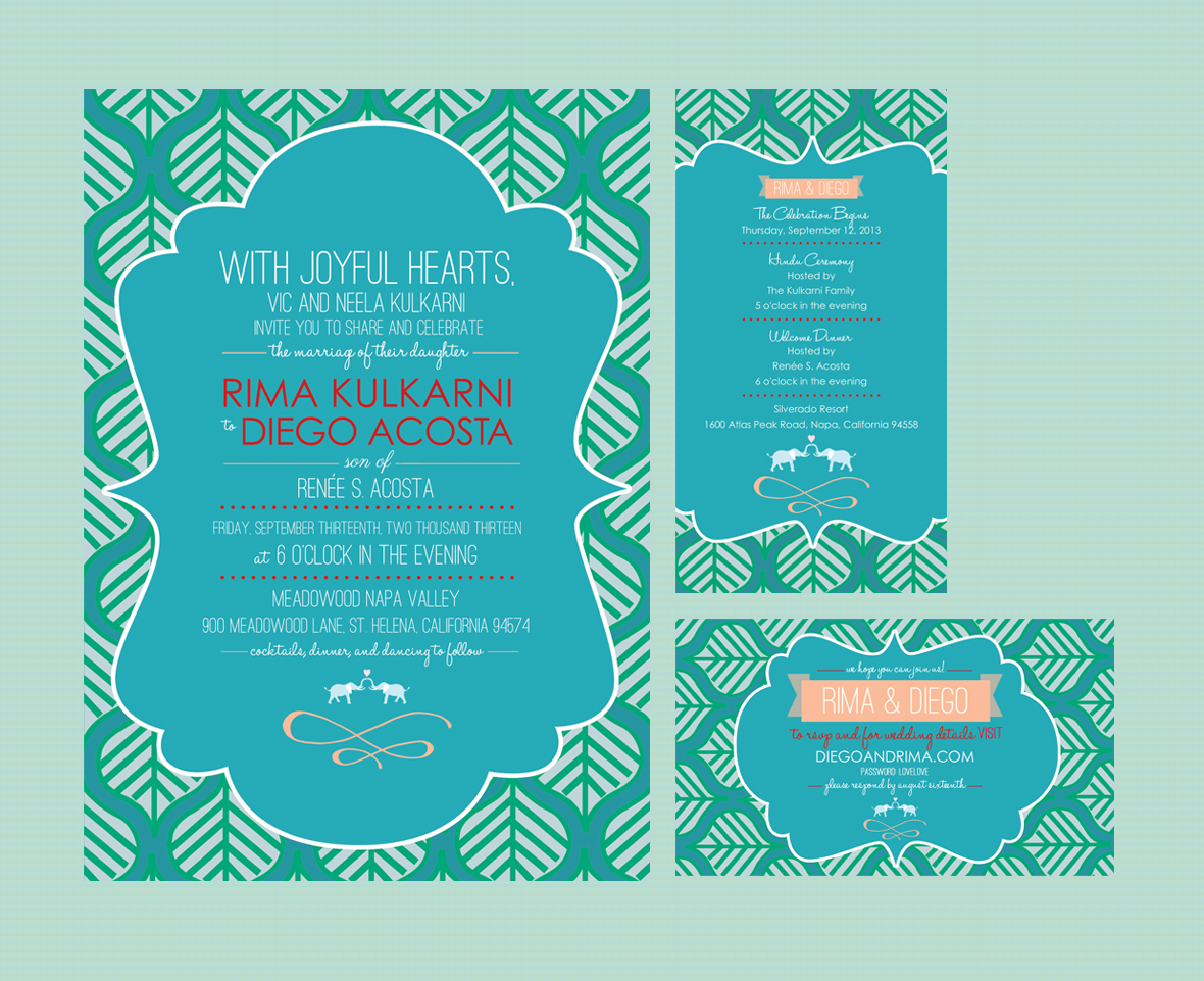 India Inspired - Wedding Invite