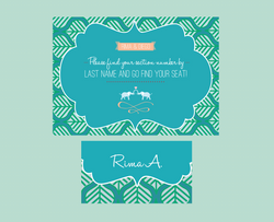India Inspired - Escort Card & Sign