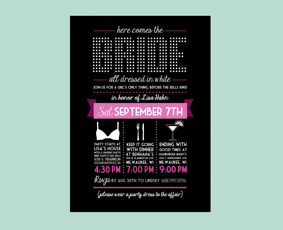 Bridal Fun - Bachlorette Invite