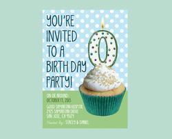 Zero Birthday - Baby Announcement