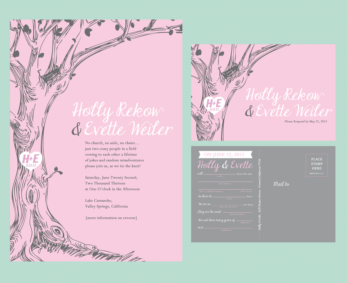 A Walk in the Woods - Wedding Invite