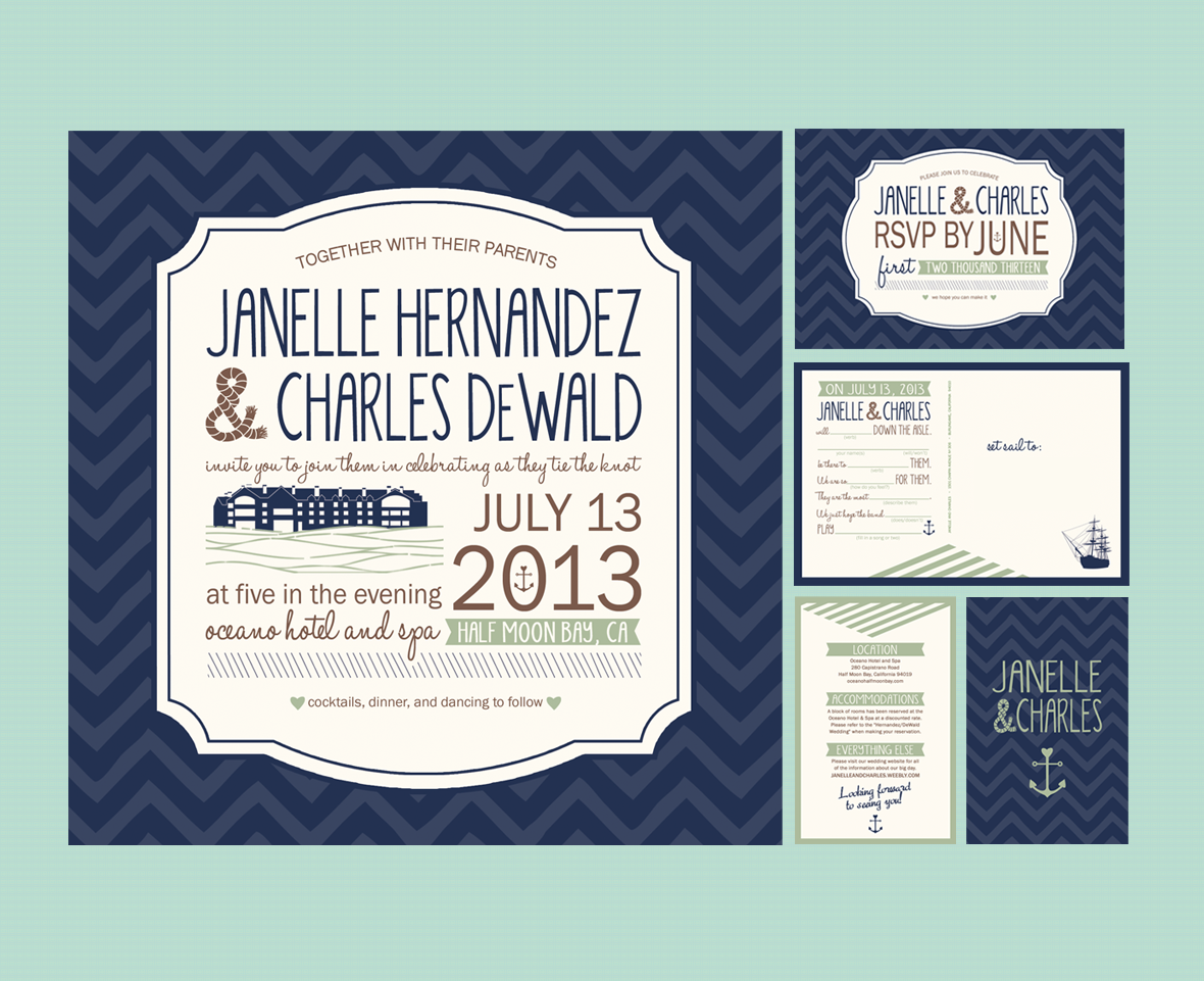 By The Sea - Wedding Invite
