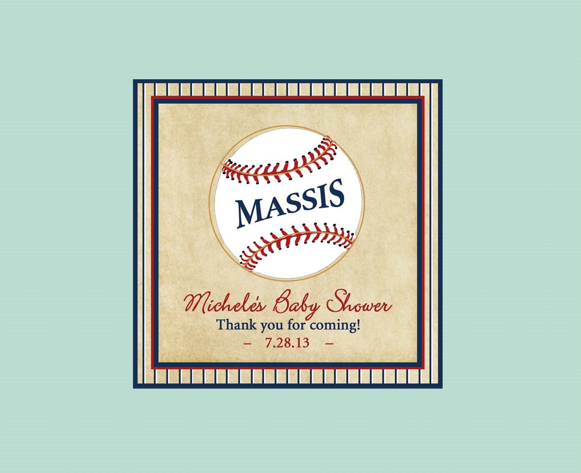 Baseball Baby - Favor Tag