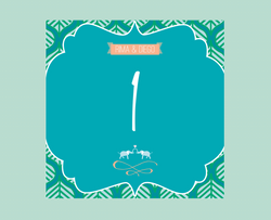 India Inspired - Table Number