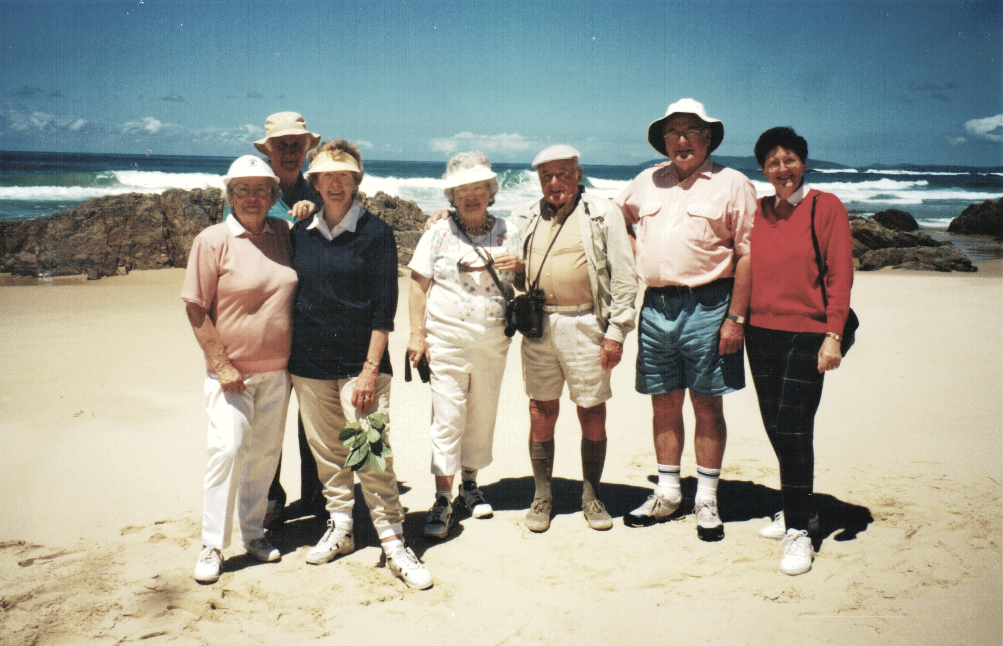 1997 Activities Walkers at Pebbly Beach